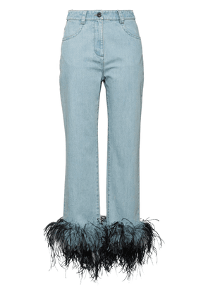 Prada feather hem jeans - Blue