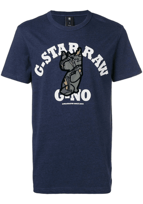 G-Star Raw Research 'Rhino' print T-shirt - Blue