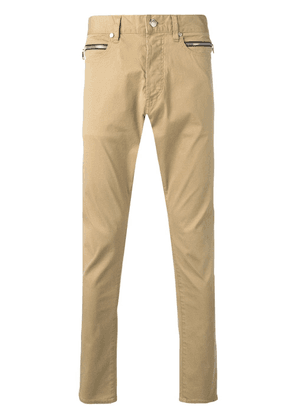 Balmain slim fit trousers - Neutrals