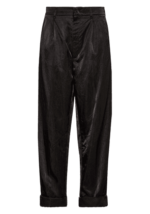 Prada Technical satin trousers - Black