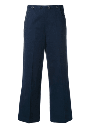 Bellerose cropped tailored trousers - Blue