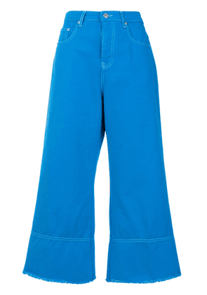 MSGM cropped flare jeans - Blue