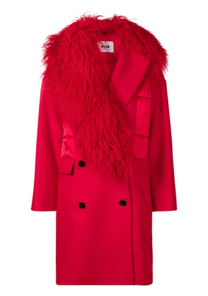MSGM fitted silhouette coat - Red