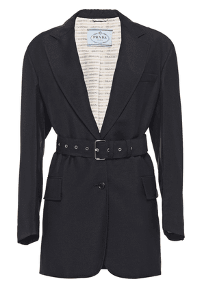 Prada long single breasted blazer - Black