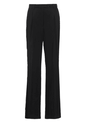 Prada Fluid twill trousers - Black