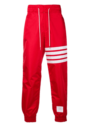 Thom Browne 4-Bar Relaxed Fit Track Pants - Red