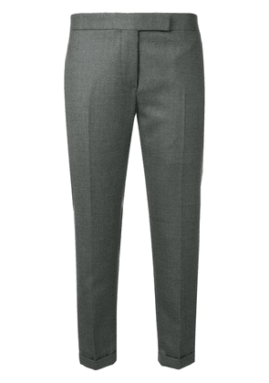 Thom Browne Striped Low-rise Wool Trouser - Grey