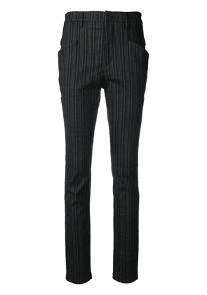 Isabel Marant striped slim-fit trousers - Black