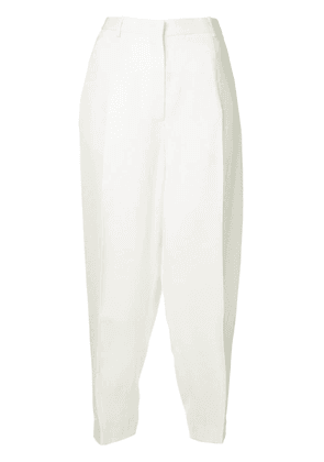 Jil Sander creased tapered trousers - White