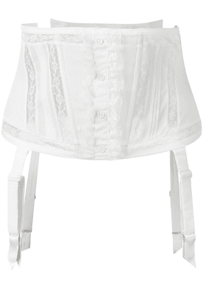 Chantal Thomass Murmure waspie corset - White