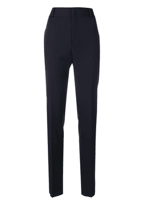 Saint Laurent tailored fitted trousers - Blue