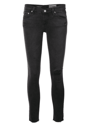 Ag Jeans destroyed detailing cropped jeans - Grey
