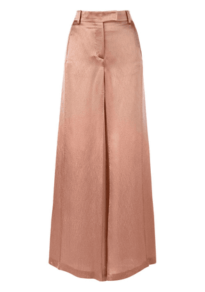 Valentino textured wide leg trousers - Neutrals