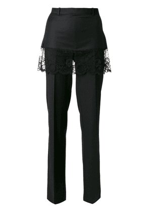Givenchy lace overlay tailored trousers - Black