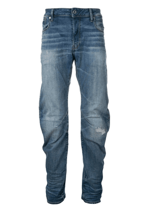G-Star Raw Research faded straight leg jeans - Blue