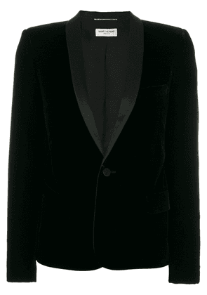 Saint Laurent tuxedo jacket with square-cut shoulders - Black