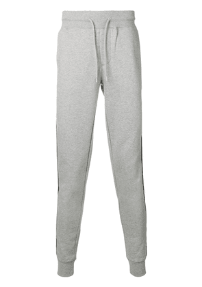 Moncler side stripe track trousers - Grey