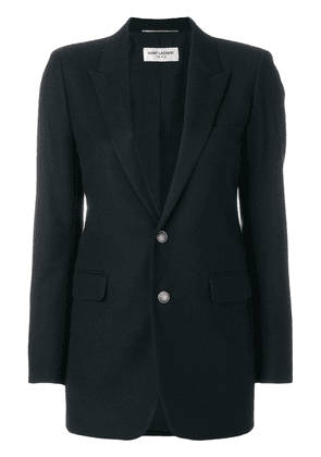 Saint Laurent single breasted plunge blazer - Black