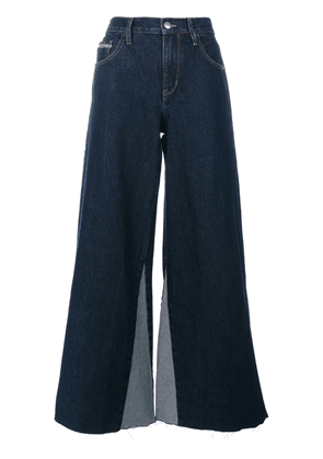 Ck Jeans flared jeans with frayed edges - Blue