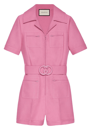 Gucci short belted playsuit - Pink