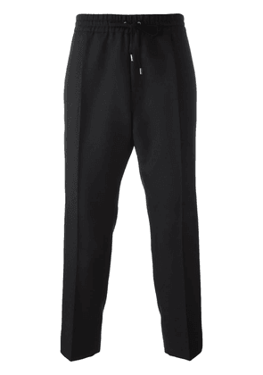 Gucci drawstring cropped track pants - Black