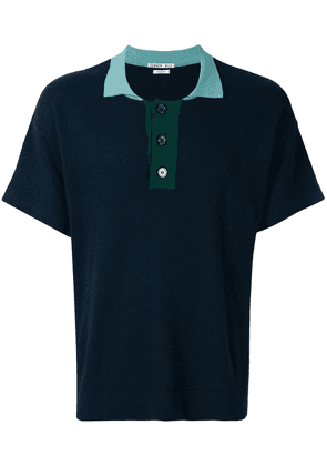 Common Wild classic short-sleeve polo top - Blue