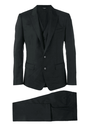 Dolce & Gabbana three-piece checked suit - Black