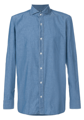Borrelli plain shirt - Blue