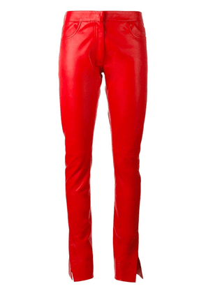 Loewe straight leather pants - Red