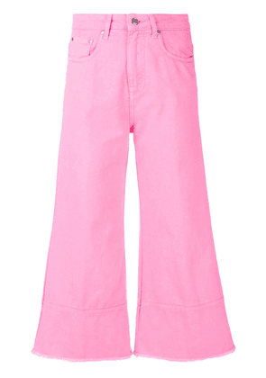 MSGM cropped flare jeans - Pink