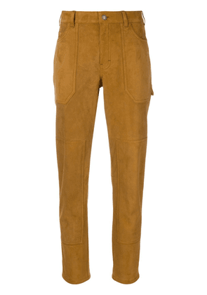 Saint Laurent classic slim-fit trousers - Brown
