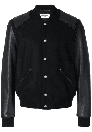 Saint Laurent Heaven varsity bomber - Black