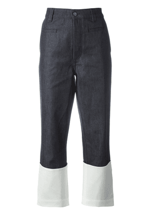 Loewe colour block denim pants - Blue