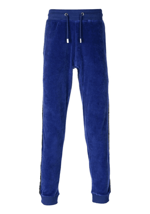 Blood Brother velvet track pants - Blue