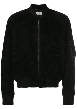 Saint Laurent zipped bomber jacket - Black