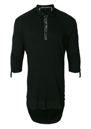 Cedric Jacquemyn layered polo shirt - Black