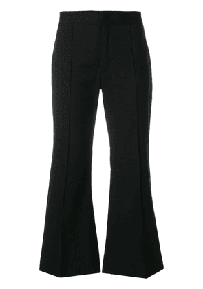 Isabel Marant flared cropped trousers - Black