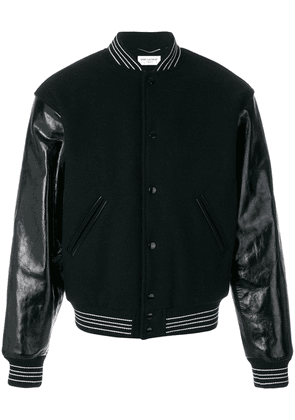 Saint Laurent Teddy bomber jacket - Black