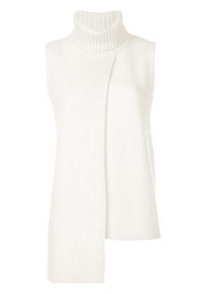Cashmere In Love cashmere Tania turtleneck sleeveless top - Neutrals
