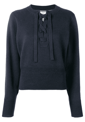 Isabel Marant lace-up front sweater - Blue