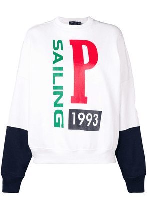Polo Ralph Lauren printed sweatshirt - White