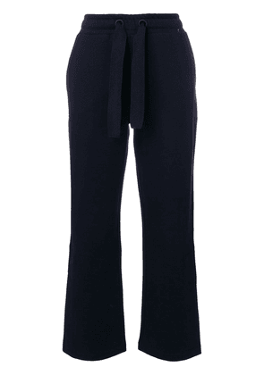 Moncler drawstring flared trousers - Blue