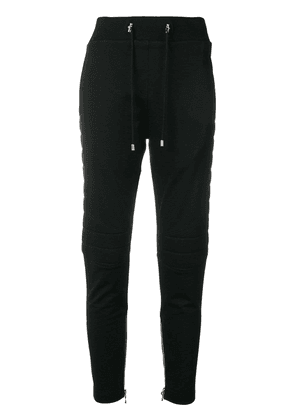 Balmain high-waisted drawstring trousers - Black
