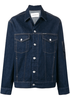 Ck Jeans rear print buttoned jacket - Blue