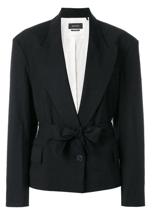 Isabel Marant structured shoulder blazer - Black
