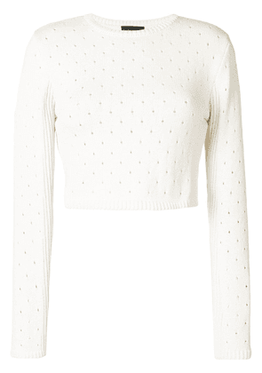 Cashmere In Love Britta cropped sweater - Neutrals
