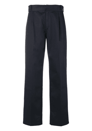 Gosha Rubchinskiy structured high waisted trousers - Blue