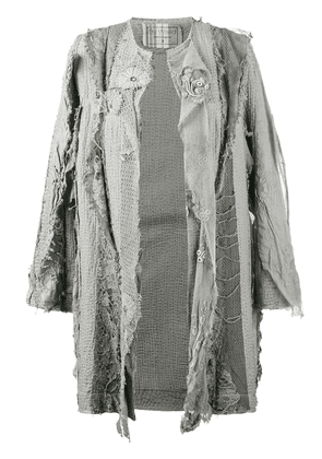 By Walid 18th century embroidered coat - Grey