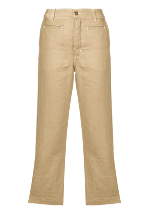 Loewe cropped trousers - Brown