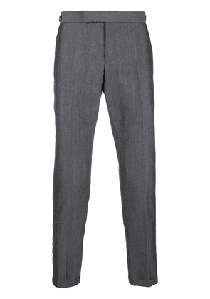 Thom Browne Selvedge Stripe Skinny-Fit Trouser - Grey